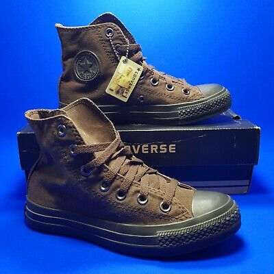 Converse All Star Womens Brown Trainers UK 3.5 Girls Chuck Taylor Hi Top Sneaker