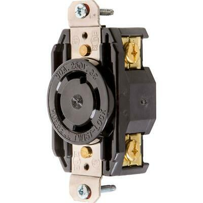 Hubbell T28433 30 Amp 250V NEMA L15-30 3 Phase Twist Lock Receptacle
