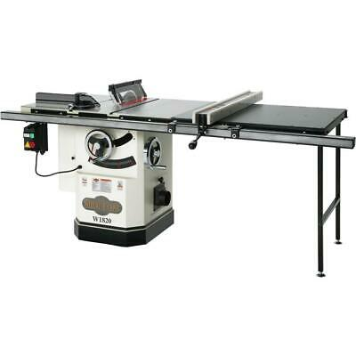 "Shop Fox W1820 10"" 3 HP Cabinet Table Saw with Riving Knife and Long Rails"
