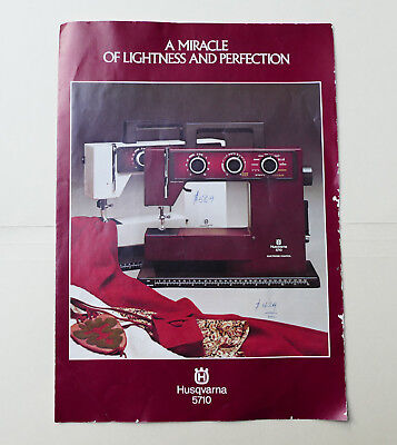 Husqvarna 5710 Sewing Machine Sales Brochure Information Leaflet Guide Vintage