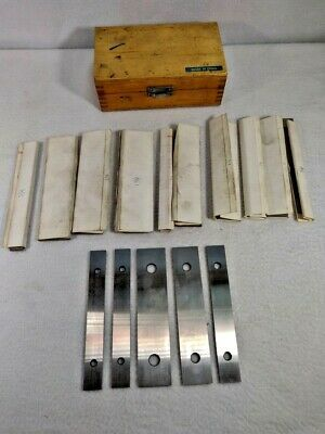 "Parallel Set 5/8"" to 1/2"" 6 x 1/8"" in wood box"