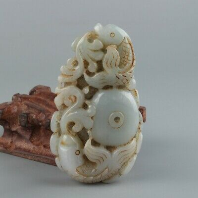 Chinese Exquisite Hand carved Jadeite jade statue