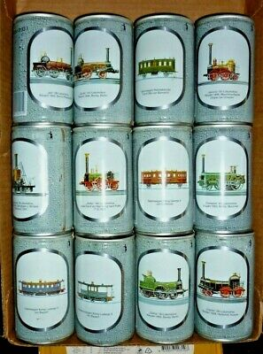 Collectable beer cans: Set of 12 Becker's Pils Train 330ml steel cans (GERMANY)