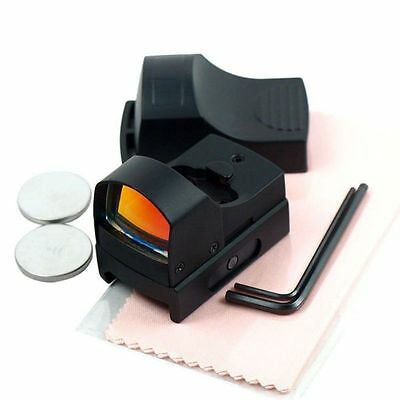 Tactical Holographic Reflex Red Dot Sight for Rifle Pistol w/ Picatinny Rail