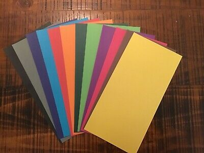12 X Bright Plain Coloured Papers Scrapbooking Card Making 12.5cm X 25cm