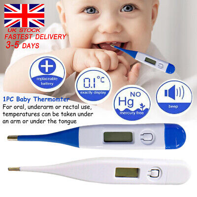 Thermometer for Adults Kid Digital LCD Baby Body Thermometers for Ear Mouth UK