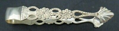 Antique English Sterling Silver Tongs Sheffield 1911 Shell Form Tips