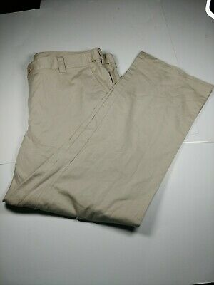 Charter Club Womens Khaki Pants Sz 18 Tan Stretch Flat Front Casual Adjustable