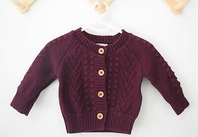 Jamie Kay Mulberry Cable Knit Cardigan