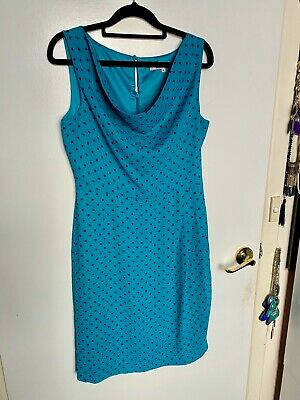 Review Teal Polka Dot Dress size 10