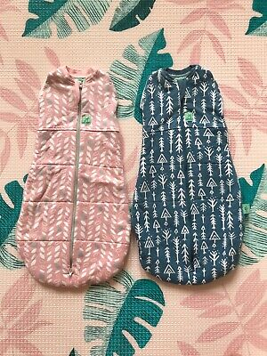 Ergopouch Cocoon Swaddle Sleep Bags 2.5 Tog 0-3 Months Perfect Condition