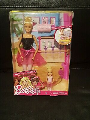 Barbie Doll BALLET INSTRUCTOR Play Set With & Accessories NEW
