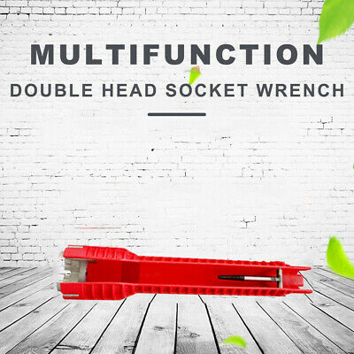 Faucet Sink Wrench Anti-slip Handle Double Head Spanner Installation Tool Red