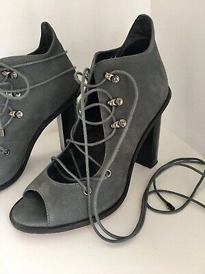 alias mae Shoes Lace Up Leather Heels Shoes Size 39 / 8