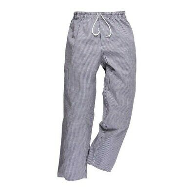 2 X CHEF 100% cotton PANTS,  CHECK PATTERN, BREATHABLE POCKETS! Size SMALL