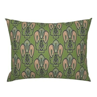 Frog 1920S Style Art Decor Green Artwork Nouveau 1920 Pillow Sham by Roostery