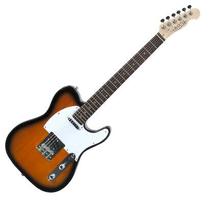 Guitare Électrique E-Guitar Telecaster Vintage Sunburst Érable 2x Single Coils