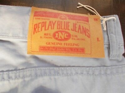 Replay Blue Jeans Pants - New, Light Blue 100% cotton