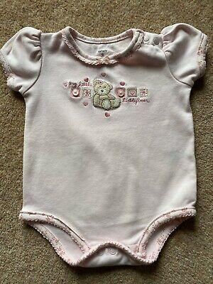 Baby Girls Pink Vest With Teddy Bear. By Carters. Age 3 Months