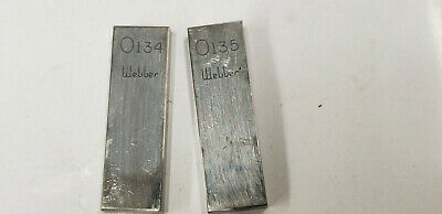 ".134"" & .135"" Webber Starrett  Rectangle Steel Gage Gauge Block."