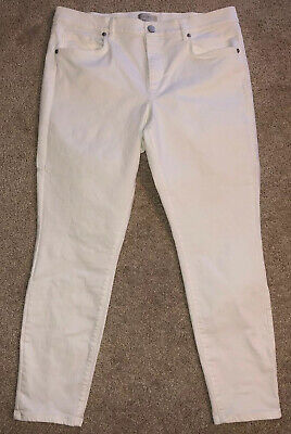 Loft Outlet Womens Modern Skinny White Jeans Size 12