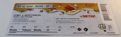 Ticket for collectors FIFA/Confederations Cup 2017 Chile Australia in Moscow