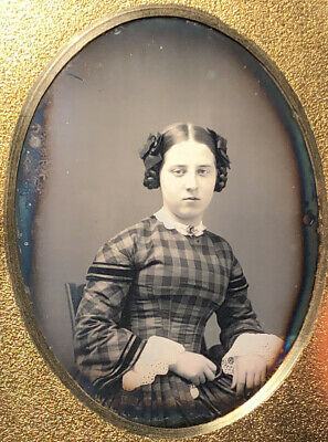 Ninth Plate Daguerreotype of a Beautiful Young Girl 1840s'