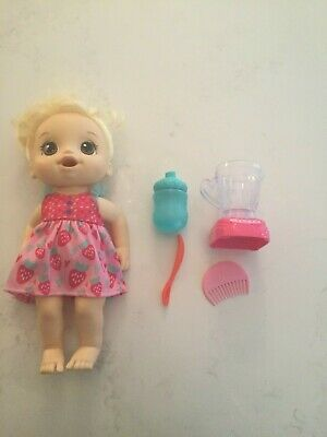 Baby Alive Magical Mixer Doll Strawberry Shake Blonde w/ Accessories Toy Awesome