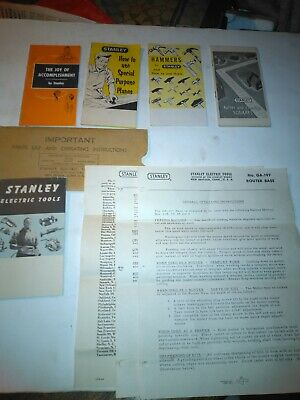 5-VTG  1950s Stanley Tools Parts List & Operating Instructions / Manuel's/ N.O.S