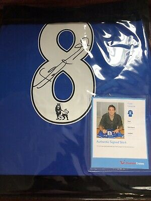 Frank Lampard Hand Signed Shirt Chelsea With Proof.