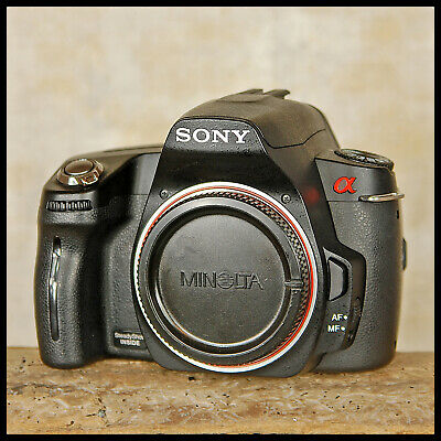 Clean Sony A290 Alpha Digital SLR Camera + charger battery manual