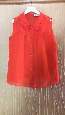 Girls Age 9 Years Next Thin Floaty Sleeveless Blouse Top