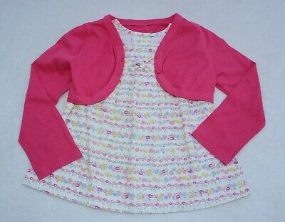 George *Girls Floral top with pink Cardigan/shrug set age 3 - 4 years excellent