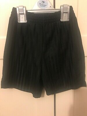 Boys Black School PE Shorts Age 3-4 Years