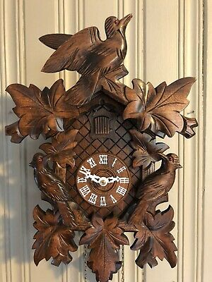 Large Black Forest Cuckoo Clock West Germany Works GREAT!