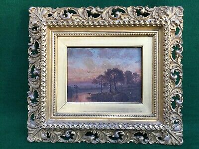 Antique Hudson River Oil Painting on Canvas