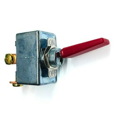 NEW High Current 50 Amp 12-14 Volt DC Automotive SPST Red Toggle On-Off Switch