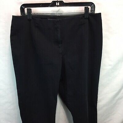 INC Womens Pants Black Size 14W Plus International Concepts W1