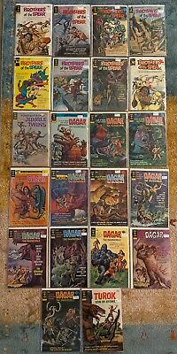 GOLD KEY BRONZE COMIC LOT DAGAR BROTHERS OF THE SPEAR 22 Issues No Reserve NICE