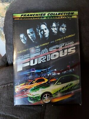 LIKE NEW Fast & Furious DVD Franchise Collection (Movies 1 & 2)