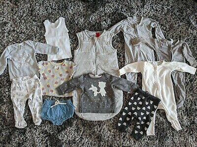 Bulk Lot 11 items Baby 3-6 mth 00 Unisex boy girl Country Road Wondersuit H&M