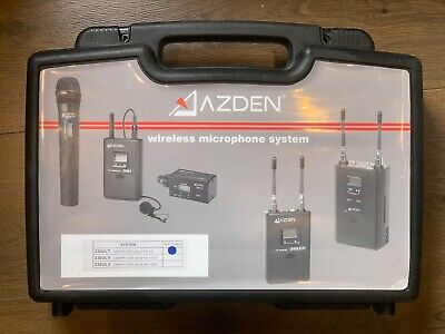 Azden 330ULT Dual Channel UFH DSLR Wireless Mic System with 2x laver Mic