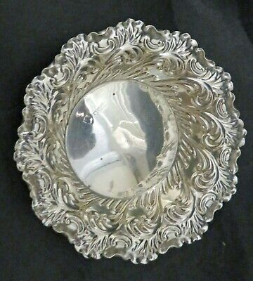 Victorian English Sterling Silver Dish Bowl London 1896 Robert Halford And Sons
