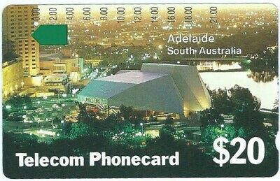 1 Hole Prefix 15 Adelaide City Telstra Phonecard. Interesting Condition