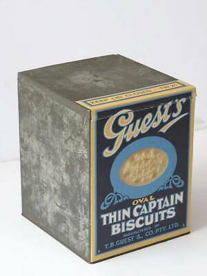 TB Guests Thin Captains biscuit tin, Guest's Biscuits, TB Guest
