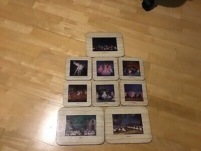 set of 9 vintage 1950s coasters and place mats, Ballet.
