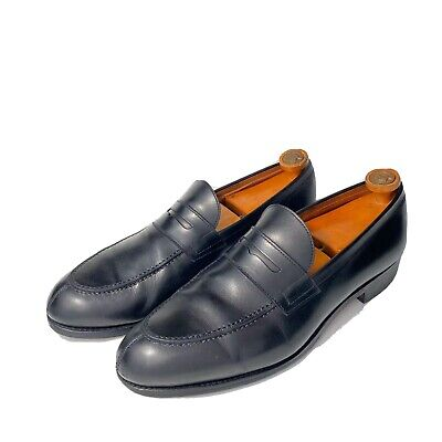 Carmina Men's Used $495 Black Leather Loafers Shoes sz 10For Saks Fifth Avenue