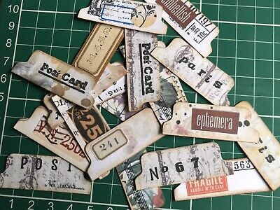 20 Hand Made Junk Journal Shabby Chic Tabs