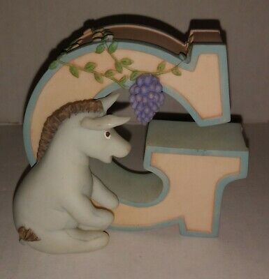 Disney Classic Winnie the Pooh Letter G Featuring Eeyore Resin Wall Hang or Sit