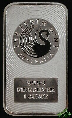 Perth Mint 1 oz Kangaroo Bullion Bar, 99.99% Fine Silver #BG2